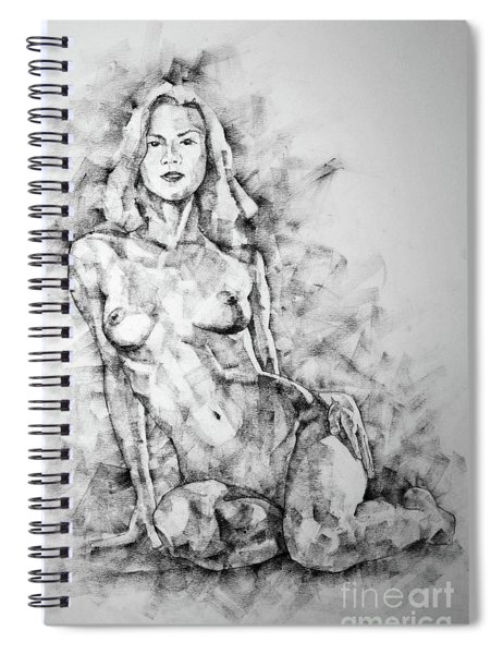 Sketchbook Page 36 Female Sitting Pose Drawing Spiral Notebook