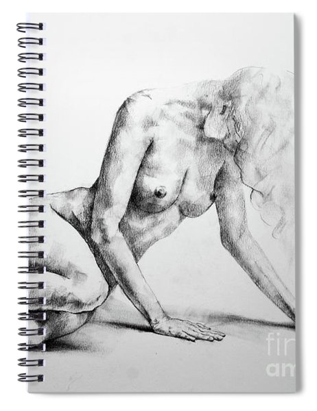 Sketchbook Page 37 Lateral Pose Sketch Drawing Spiral Notebook