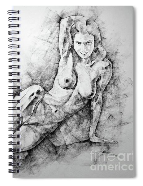 Sketchbook Page 38 Female Sitting Lateral Pose Drawing Spiral Notebook