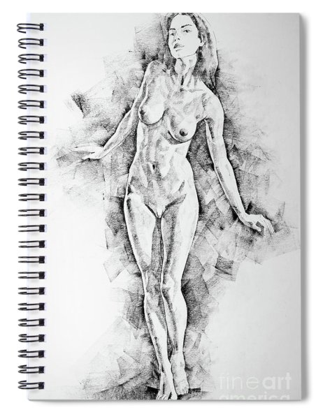 Sketchbook Page 41 I Live Figure Drawing Model Standing Pose Spiral Notebook