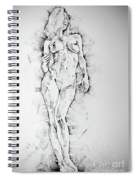 Sketchbook Page 43 Drawing Of Standing Figure Of A Woman Spiral Notebook