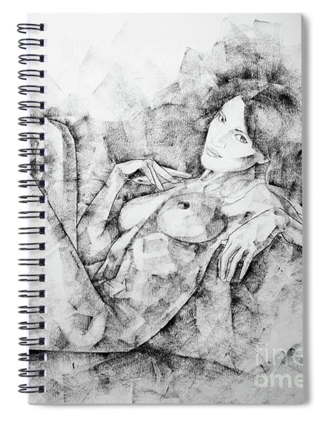Sketchbook Page 46 Drawing Woman Classical Sitting Pose Spiral Notebook