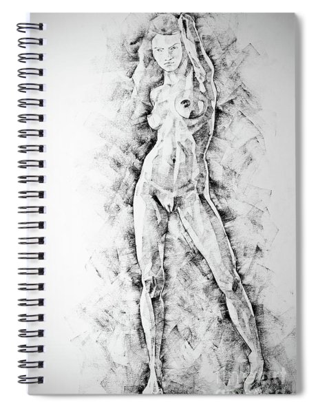 Sketchbook Page 47 Straight Human Figure Drawing Spiral Notebook