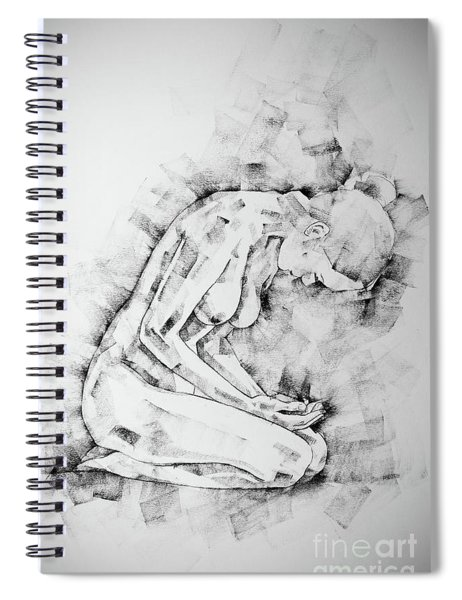 Sketchbook Page 49 Kneeling Pose Drawing Spiral Notebook