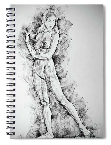 Sketchbook Page 50 Drawings Of Girl Classic Straight Pose Spiral Notebook