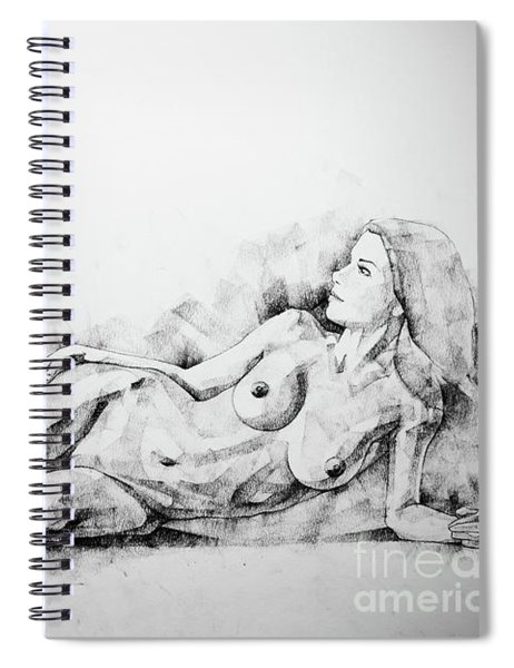 Sketchbook Page 51 Figure Drawing Fine Art Woman Classical Pose Spiral Notebook