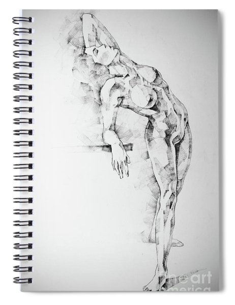 Sketchbook Page 52 Girl Art Drawing Classical Pose Spiral Notebook