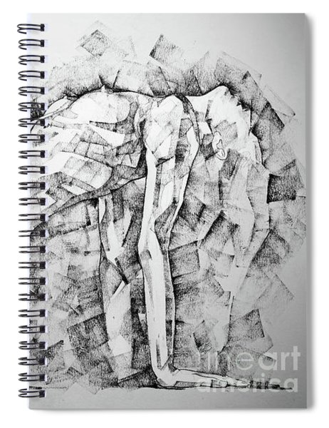 Sketchbook Page 53 Woman Glamour Pose Art Drawing Spiral Notebook