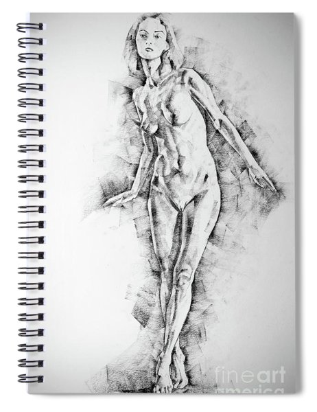Sketchbook Page 56 Girl Stand Up Pose Drawing Spiral Notebook