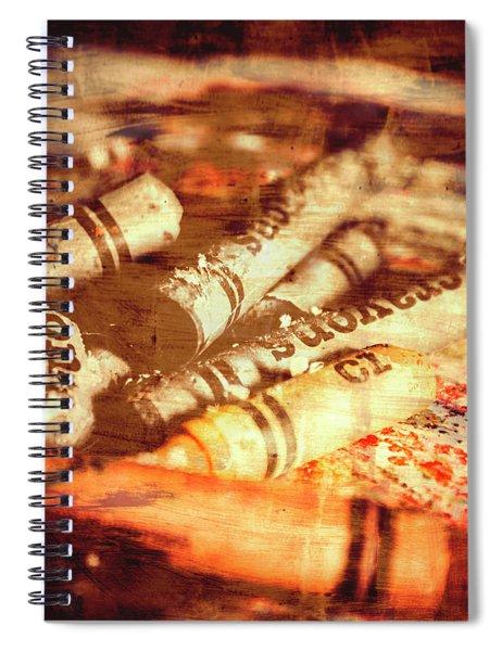 Sketchy Old Fine Art Palette Spiral Notebook