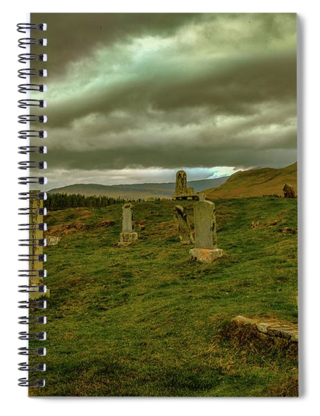 Skies And Headstones #g9 Spiral Notebook