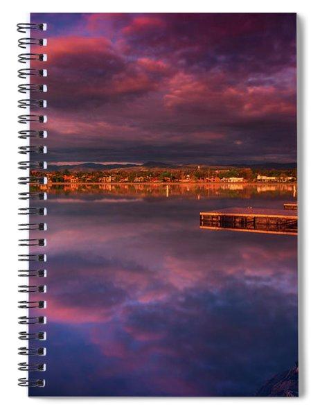 Skies Of Golden Hour Spiral Notebook