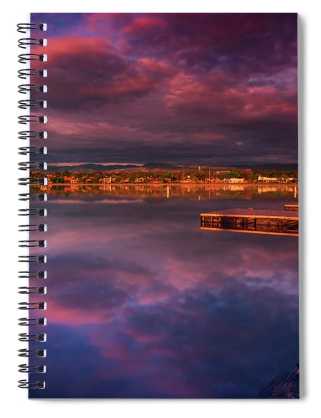 Spiral Notebook featuring the photograph Skies Of Golden Hour by John De Bord