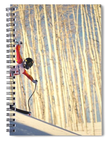 Spiral Notebook featuring the photograph Skiing In Aspen, Colorado by Travel Pics