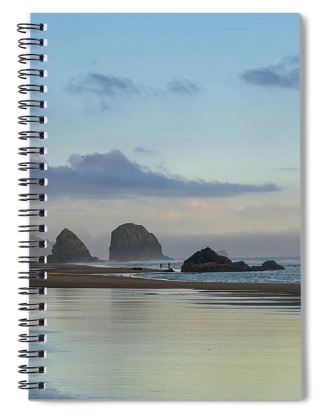 Skimming Along The Beach At Sunset Spiral Notebook