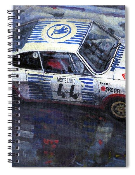 Skoda 130 Rs #44 Monte Carlo 1977 Spiral Notebook