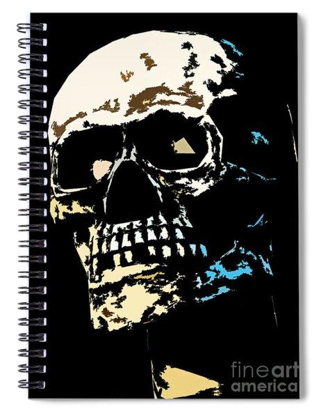 Skull Against A Dark Background Spiral Notebook