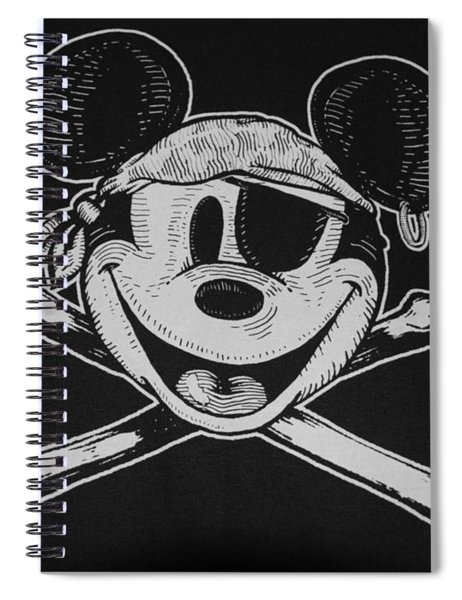 Skull And Bones Mickey  Spiral Notebook