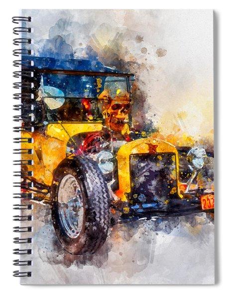 Skull Bucket Watercolor Spiral Notebook