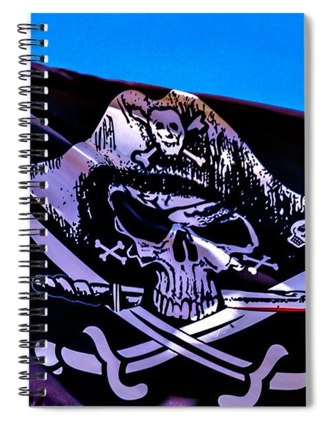 Skull Flag With Dagger Spiral Notebook
