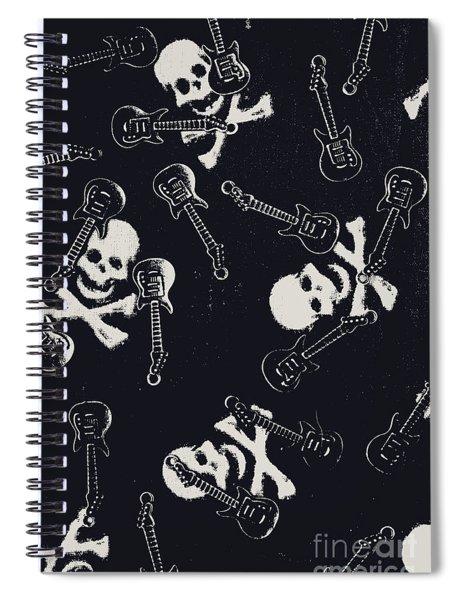 Skull Rockers Art Spiral Notebook
