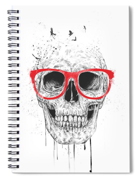 Skull With Red Glasses Spiral Notebook