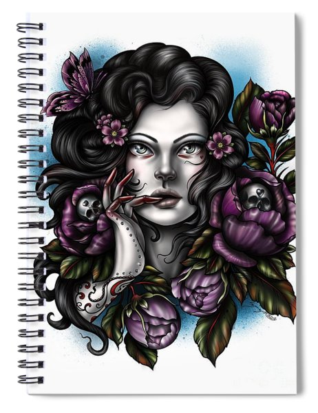 Skulls And Roses Spiral Notebook
