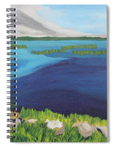Serene Blue Lake Spiral Notebook