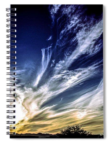 Sky Artistry Over Chandler Arizona Spiral Notebook