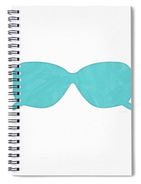 Sky Blue Sunglasses- Art By Linda Woods Spiral Notebook