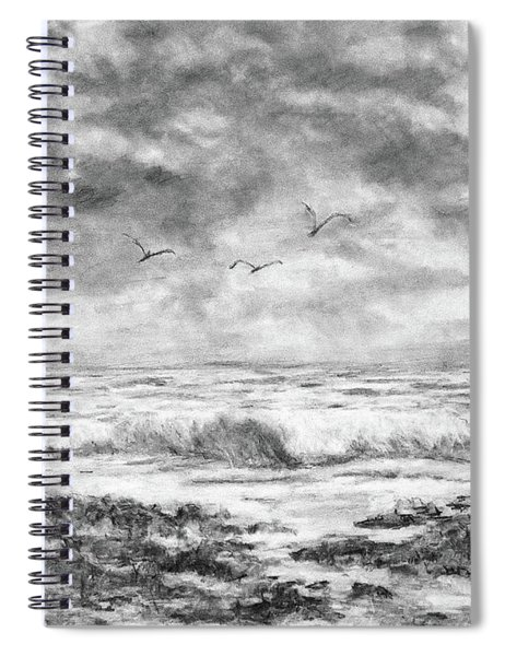 Sky Rocks And Water Spiral Notebook