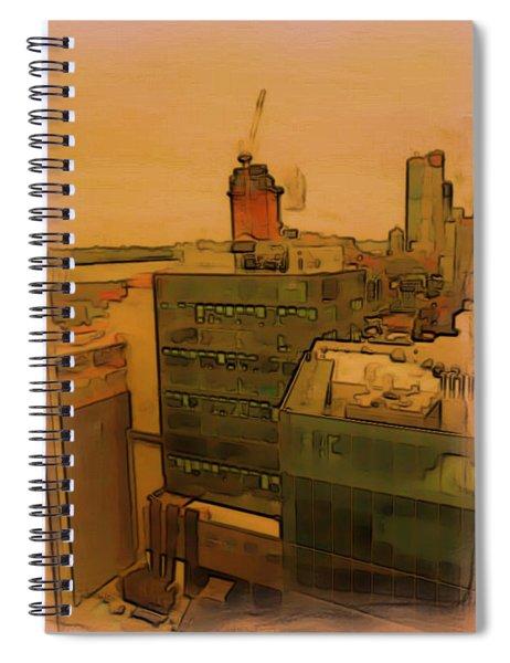 Skyline Crain Spiral Notebook