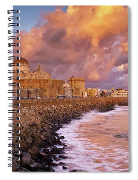 Skyline From Campo Del Sur Cadiz Spain Spiral Notebook
