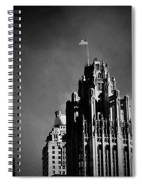 Skyscrapers Then And Now Spiral Notebook
