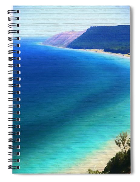 Sleeping Bear Dunes Barn Wood Spiral Notebook