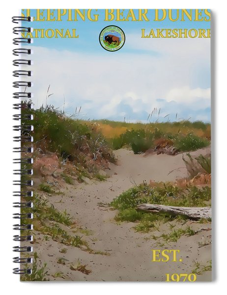 Sleeping Bear Dunes National Lakeshore Poster Spiral Notebook