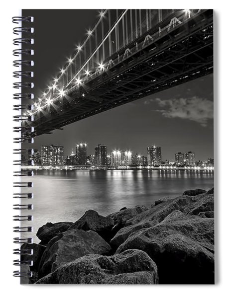 Sleepless Nights And City Lights Spiral Notebook