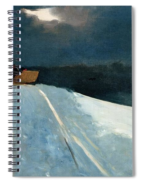 Sleigh Ride Spiral Notebook