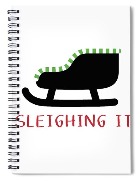 Sleighing It- Art By Linda Woods Spiral Notebook