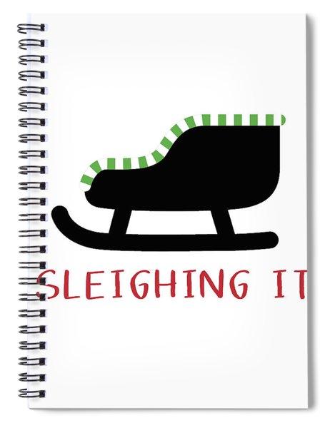 Sleighing It- Art By Linda Woods Spiral Notebook