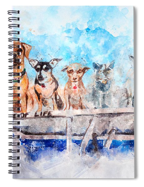 Slice Of Life Watercolor Spiral Notebook