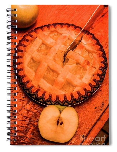 Slicing Apple Pie Spiral Notebook