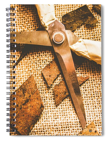 Slicing Of Segmented Leaves Spiral Notebook