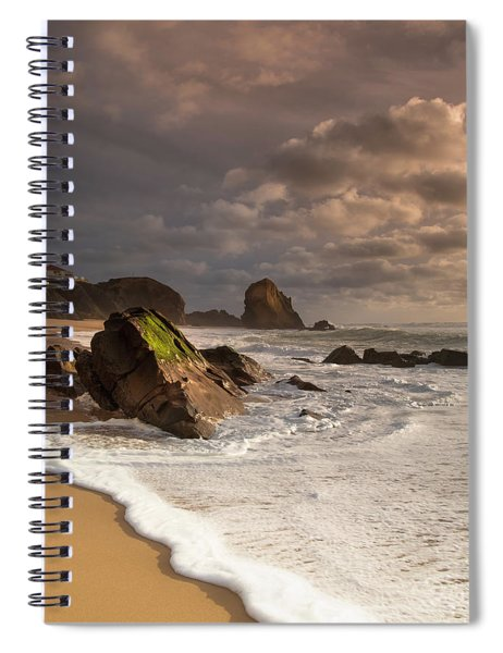 Slipping On Sand Spiral Notebook