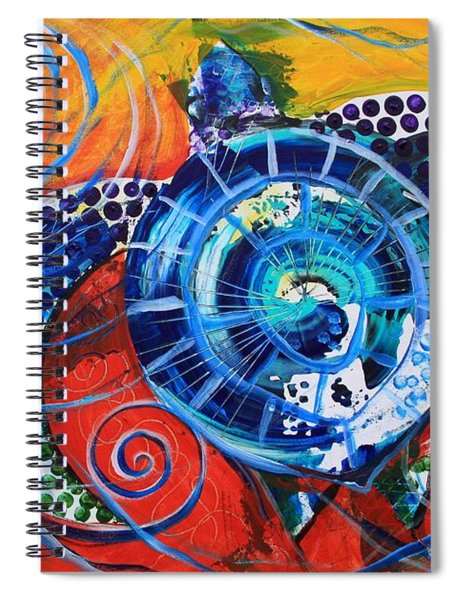 Slopical Tropical Sea Turtle Spiral Notebook