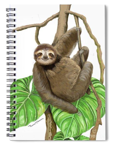 Hanging Three Toe Sloth  Spiral Notebook