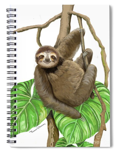 Hanging Three Toe Sloth  Spiral Notebook
