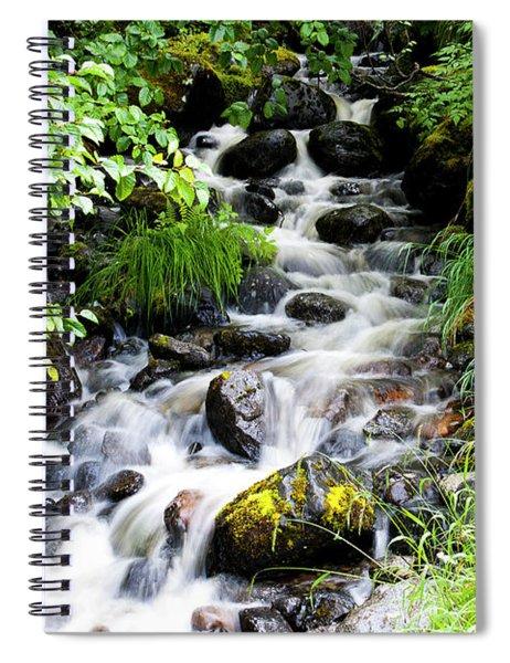 Small Alaskan Waterfall Spiral Notebook