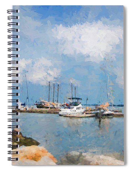 Small Dock With Boats Spiral Notebook