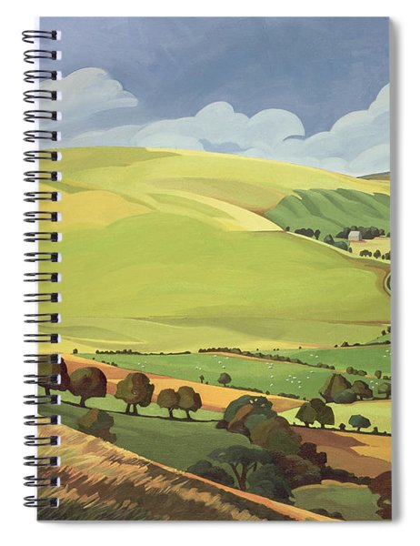 Small Green Valley Spiral Notebook